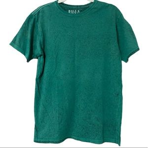 Billabong filthy habits faded speckled teal tee m